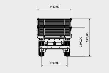 Bicci 2B180NP Zweiachs Dreiseitenkipper 03