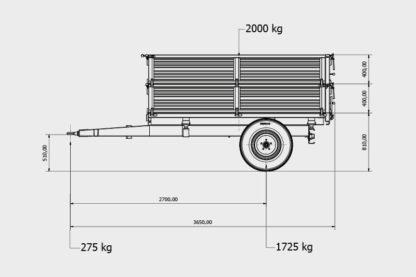 Bicci BRT125G Einachs Dreiseitenkipper 02