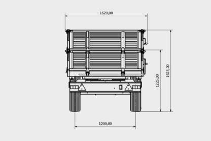 Bicci BRT125G Einachs Dreiseitenkipper 03